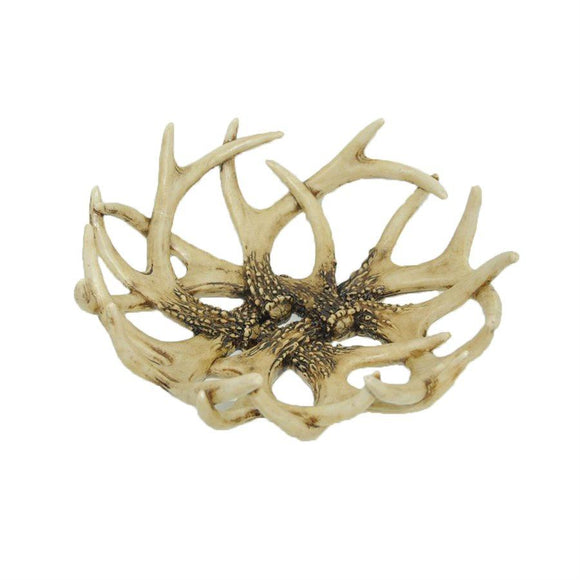 LD6014 - Lodge Faux Antler Decorative Basket/Trayby HiEnd Accents