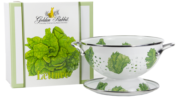 LT107 - Lettuce Pattern - 1 Quart Colander with 8