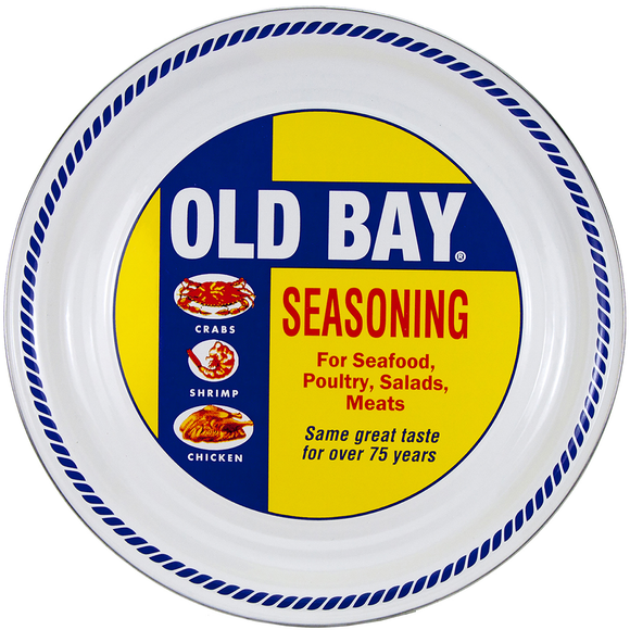 OB21 - Old Bay Pattern - Medium Serving Tray by Golden Rabbit