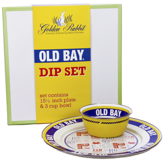 OB65 - Old Bay Pattern - Dip Set - Gift Box by Golden Rabbit