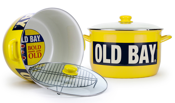 OB75 - Old Bay Pattern -18 Quart Stock Pot by Golden Rabbit