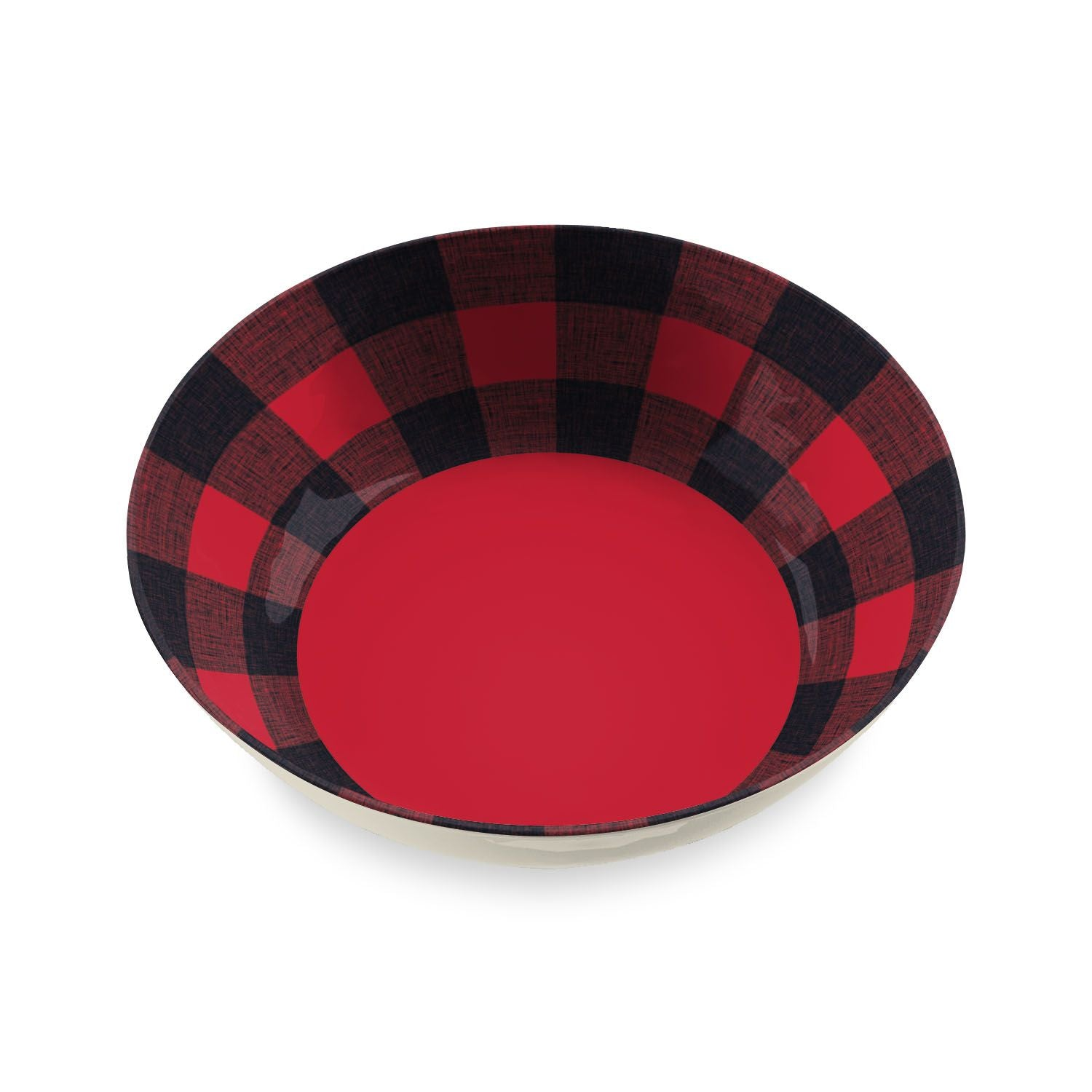"TT20748075 - Vintage Lodge Buffalo Check -  Serve Bowl - 11.9"" x 3.1"" 135 oz. by TarHong"