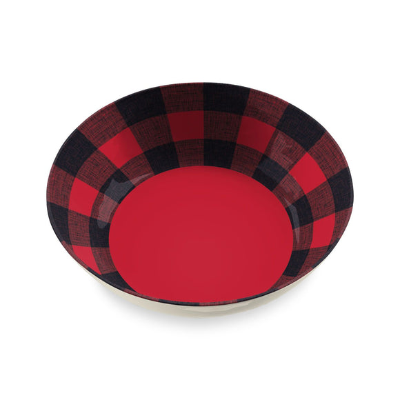 TT20748075 - Vintage Lodge Buffalo Check -  Serve Bowl - 11.9