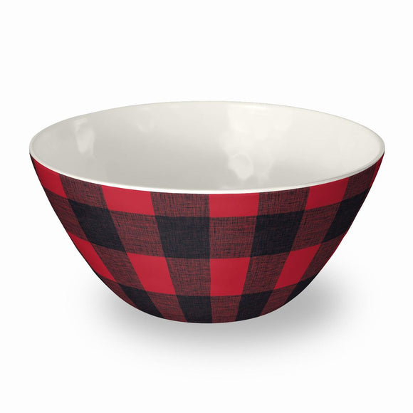 PVI3060TCBRB - Set of 6 - Vintage Lodge Buffalo Check -  Bowls - 6.1