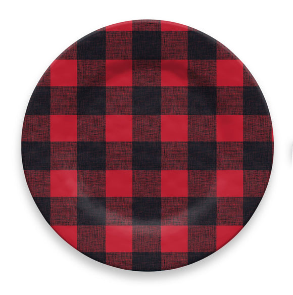 PVI1105DPRB - Vintage Lodge Buffalo Check -  Dinner Plate - 10.5