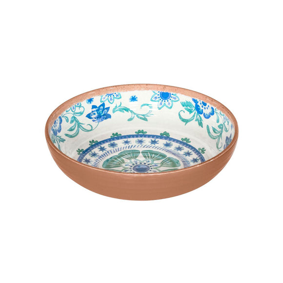 PAN5080TMBTF - Rio - Set of 6 - Melamine Turquoise Floral Bowl - 8