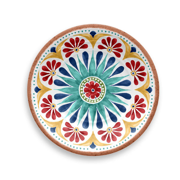 PAN1085SPMB - Rio - Set of 6 - Melamine Medallion Salad Plate - 8.5
