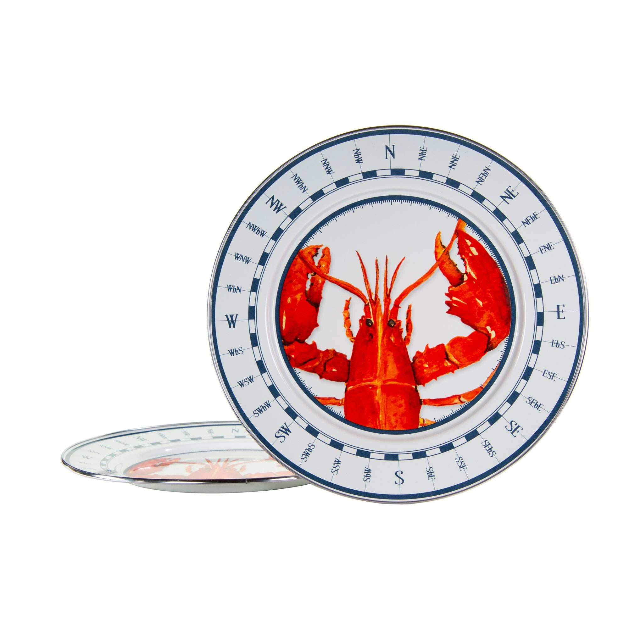 LS26S2 - Set of 2 - Enamelware Lobster - Chargers by Golden Rabbit