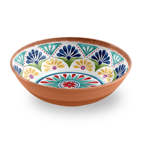 PAN5122SBMB - Rio - Melamine Medallion Low Serve Bowl - 12.2