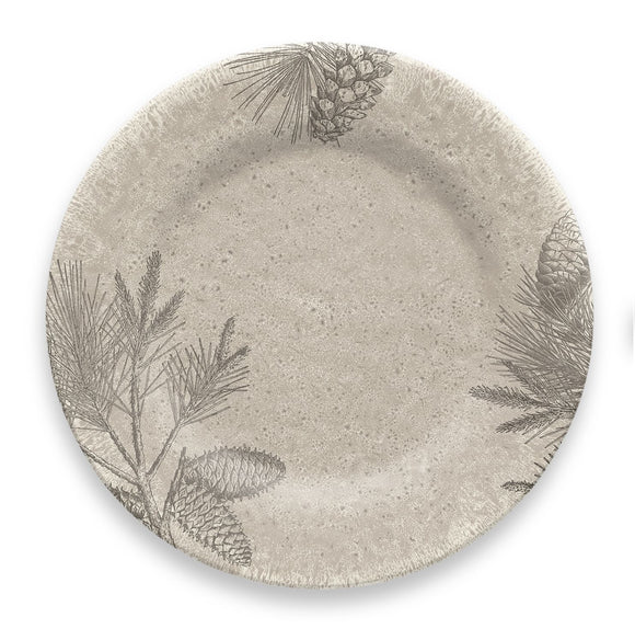 PVI1105DPRPT - Rustic Pine - Set of 6 - Melamine Dinner Plate -  10.5
