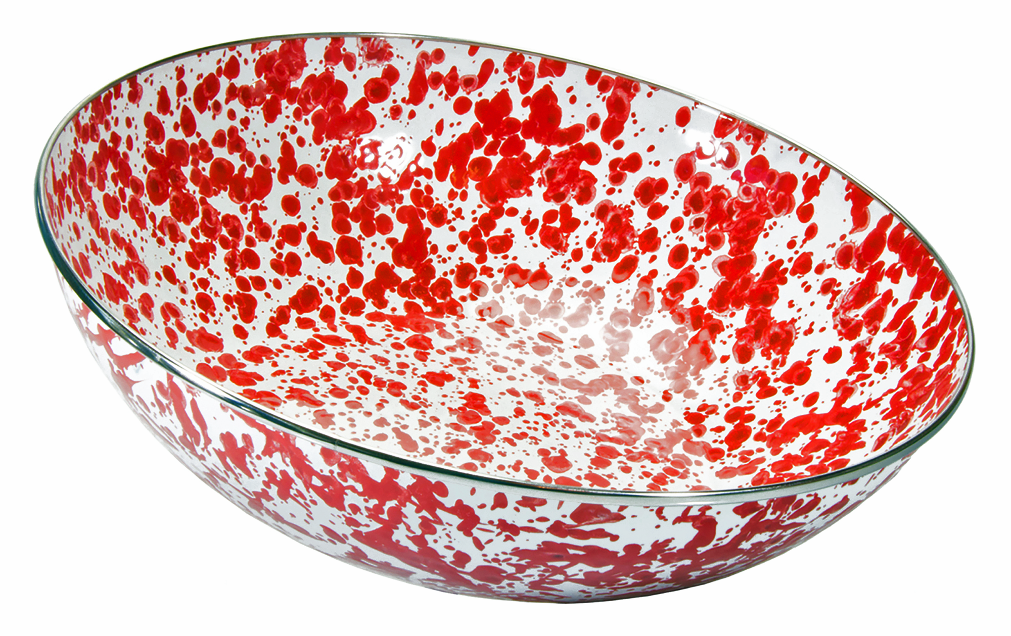 RD18 Red Swirl Catering Bowl