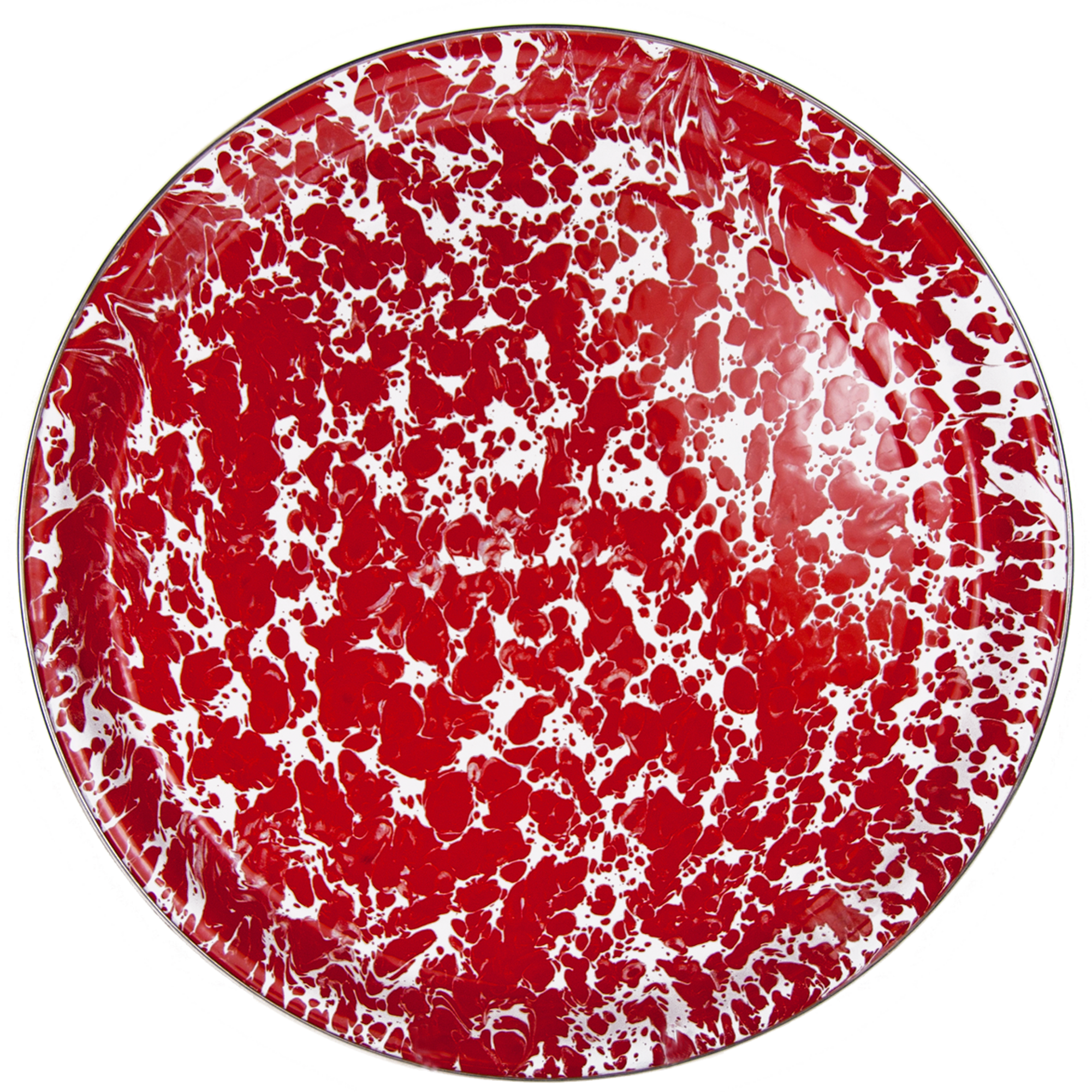 RD21 Red Swirl Medium Serving Tray