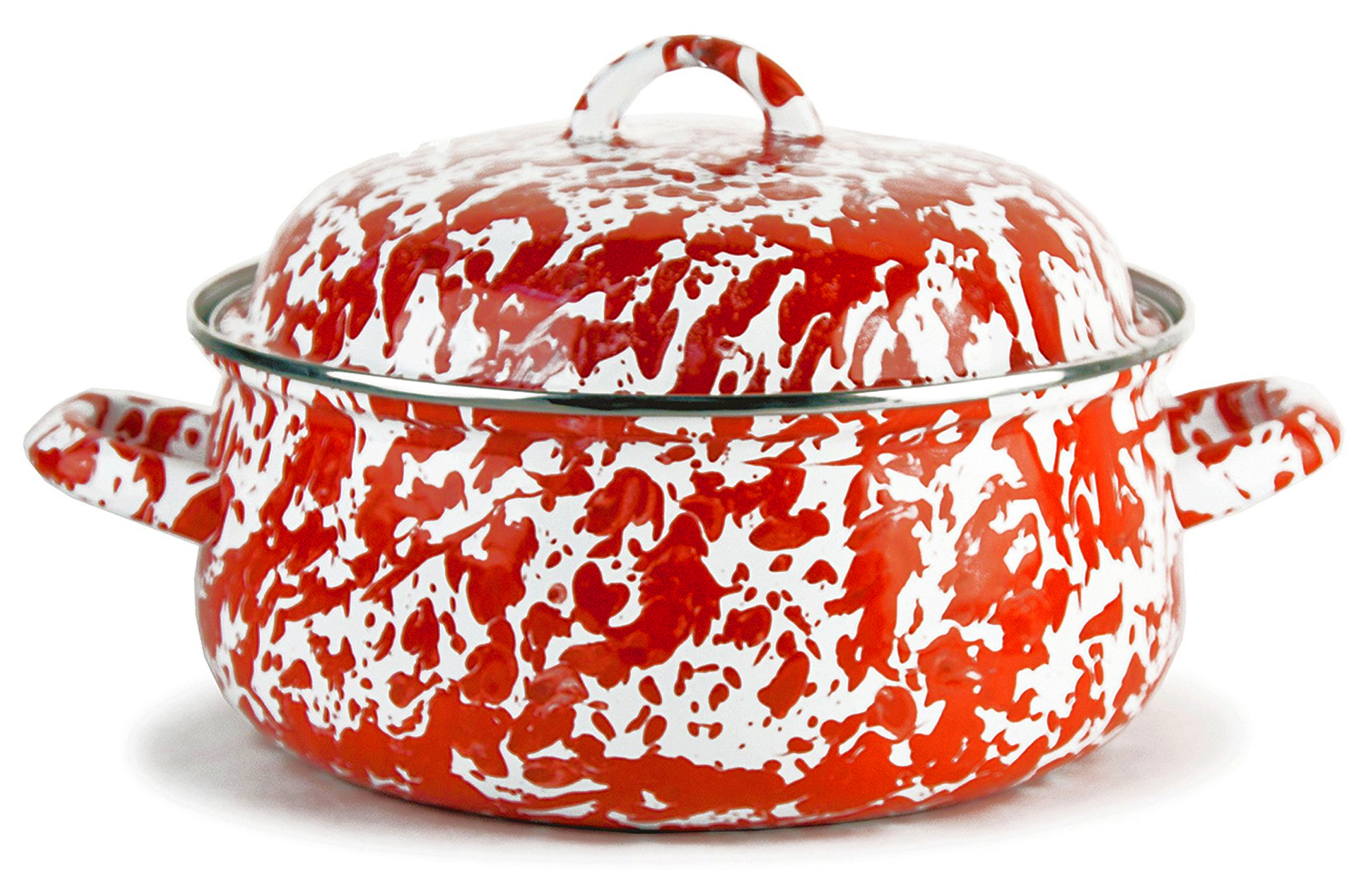 RD31 Red Swirl Dutch Oven