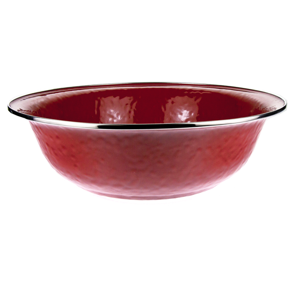 RR03 Solid Red Serving Basin