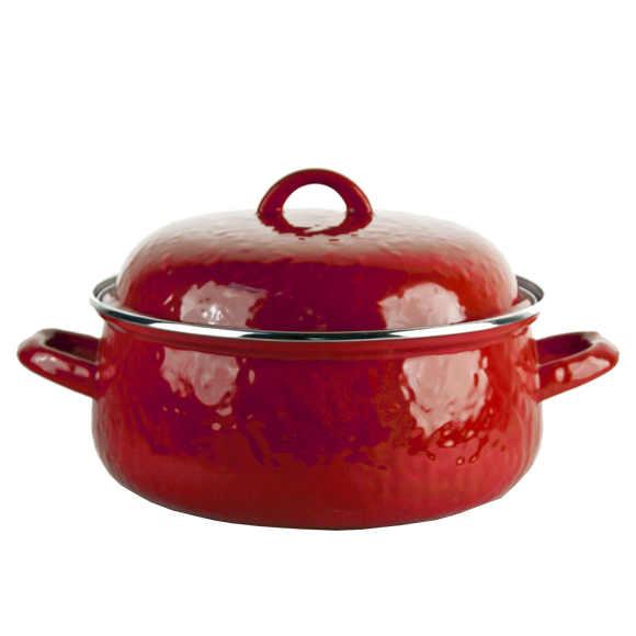 RR31 Solid Red Dutch Oven
