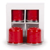 RR37 - Red on Red - Set of 2 Pairs Salt & Pepper Shakers