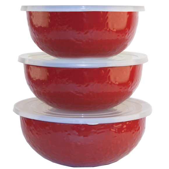 RR54 Solid Red Mixing Bowls