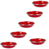 RR59S6 - Set of 6 - Enamelware Solid Red Tasting Dishes