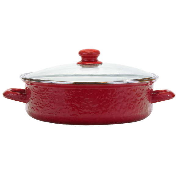 RR79 Solid Red Small Saute Pan