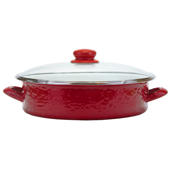 RR80 Solid Red Large Saute Pan