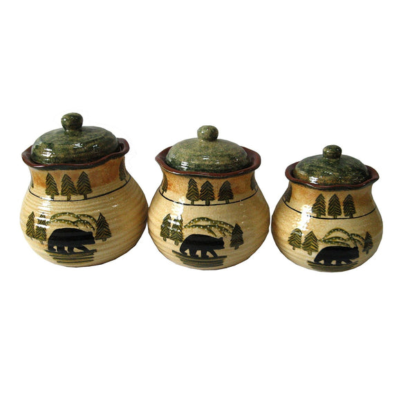 DI1810CS01 - 3 Piece Canister Set- Bear