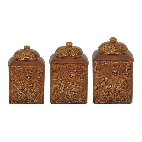 DI4001CS-OS-MS - 3 Piece Canister Set-Savannah Mustard