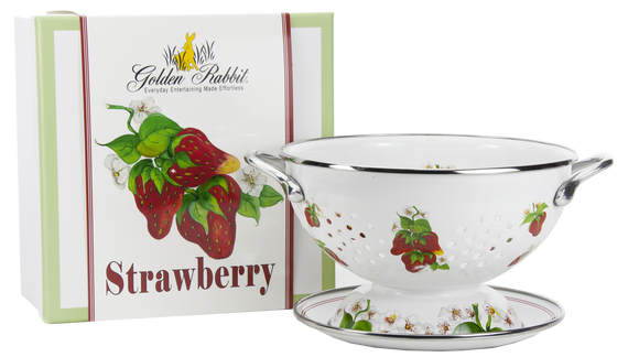 SB107 - Strawberry Pattern - 1 Quart Colander with 8
