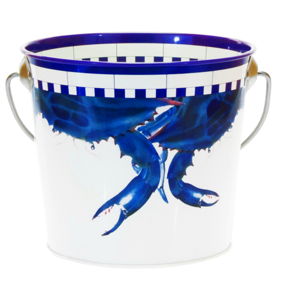SE14 - Blue Crab Pattern - Small Pail by Golden Rabbit