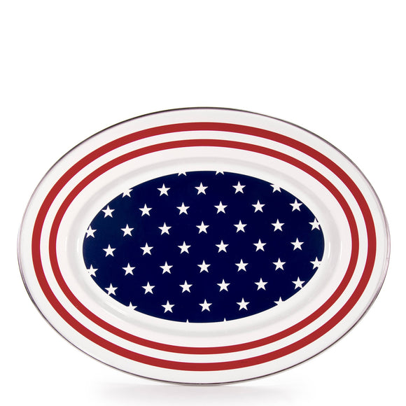 SS06 - Stars & Stripes Oval Platter Product 1