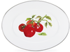 TM06 - Tomatoes Pattern - Oval Enamelware Platter - by Golden Rabbit