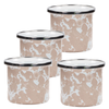 TP23S4 - Set of 4 -Taupe Swirl - 4 Ounce Baking Ramekins by Golden Rabbit