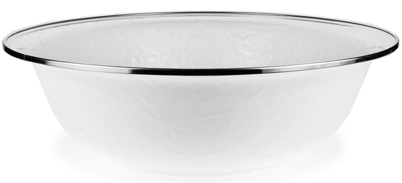 WW03 White on White Texture Serving Basin