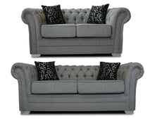 Load image into Gallery viewer, Classic Chesterfield 3 Seater & 2 Seater Sofa Set