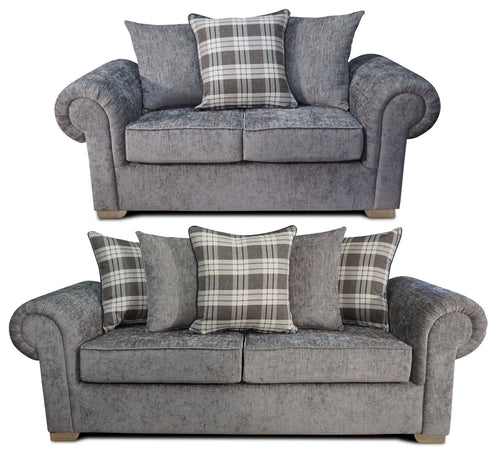 Angelica 3 Seater & 2 Seater Pillow Back Sofa Set