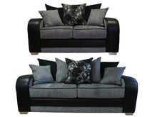 Load image into Gallery viewer, Tessa 3 Seater & 2 Seater Pillow Back Sofa Set