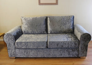 Barca Glitz Crushed Velvet 3 Seater Formal Back Sofa