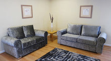 Load image into Gallery viewer, Barca Glitz Crushed Velvet 3 Seater & 2 Seater Formal Back Sofa Set