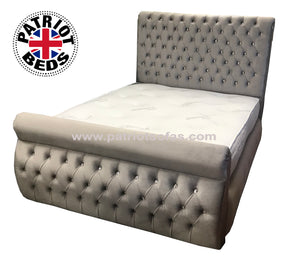 Chloe Button Sleigh Bed