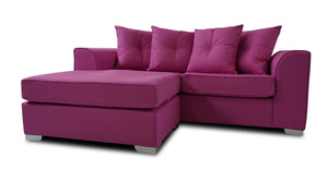 Demi 3 Seater Pillow Back Chaise Sofa