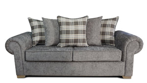 Angelica 3 Seater Pillow Back Sofa Bed