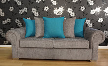 Load image into Gallery viewer, Angelica 3 Seater Pillow Back Sofa Bed