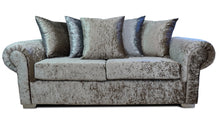 Load image into Gallery viewer, Angelica Glitz crushed velvet 3 Seater Pillow Back Sofa