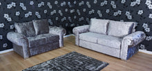 Load image into Gallery viewer, Angelica Glitz crushed velvet 3 Seater & 2 Seater Formal Back Sofa Set
