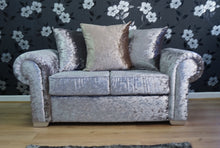 Load image into Gallery viewer, Angelica Glitz crushed velvet 2 Seater Pillow Back Sofa