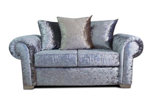 Angelica Glitz crushed velvet 2 Seater Pillow Back Sofa