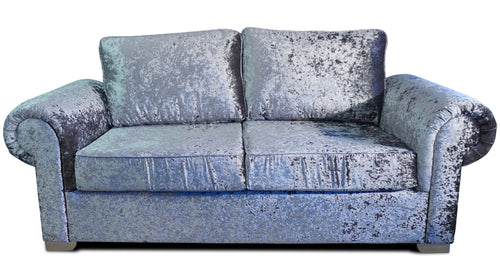 Angelica Glitz crushed velvet 3 Seater Formal Back Sofa