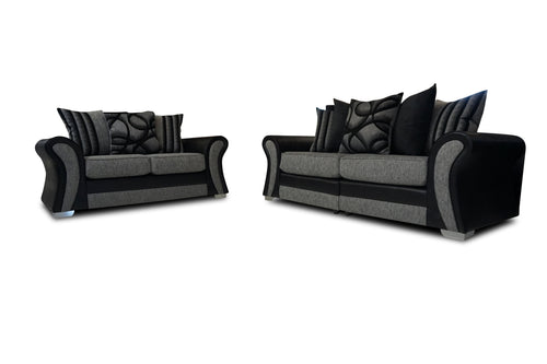 Starlet 3 Seater & 2 Seater Pillow Back Sofa Set