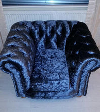 Load image into Gallery viewer, Chesterfield Glitz Crushed Velvet Chair