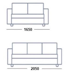 Chloe 3 Seater & 2 Seater Pillow Back Sofa Set