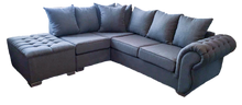 Load image into Gallery viewer, Rio Left Hand Pillow Back Corner Sofa (Including Buttoned Footstool)